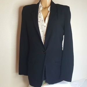Silence + Noise Black front button blazer size S